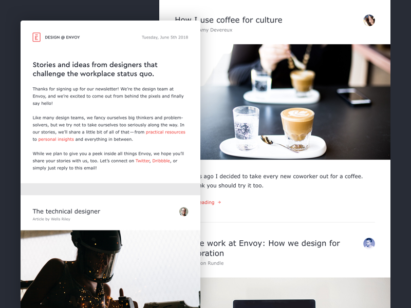 Envoy.design newsletter
