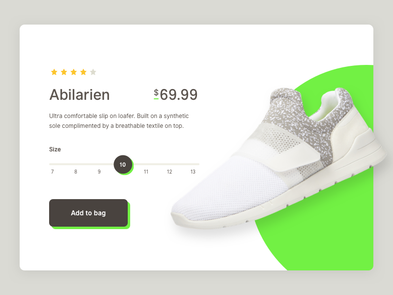 Product Card ecommerce shop cart card product shoe ux ui design web