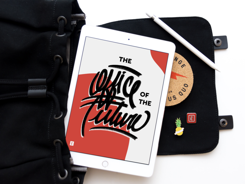 Playoff: Office of the Future envoy rebound giveaway contest illustration backpack pins gear swag merch office future ipad design