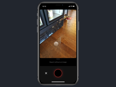 Report an issue workflow camera animation framer x framerx ux iphone mobile ios ui design