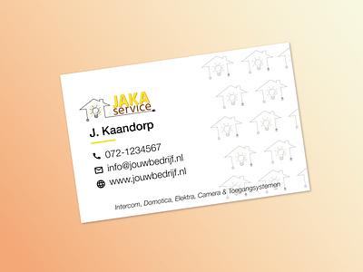 Business card Jakaservice business card yellow graphic design branding design