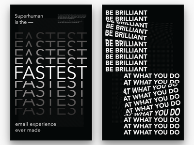 Superhuman Posters 01/02 type email white black modern typography poster design print superhuman