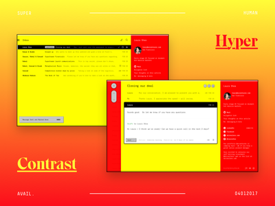Superhuman: Hyper Contrast™ Theme web iphone visual flat email mobile page ux ui design website superhuman