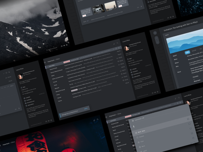 Superhuman – Carbon social web visual flat email mobile ux ui design theme dark superhuman