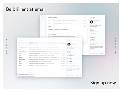 Be brilliant at email — Superhuman web iphone visual flat email mobile page ux ui design website superhuman