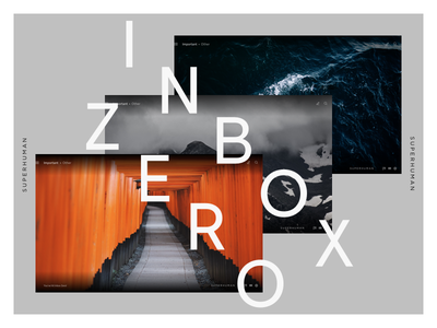 Inbox Zero — Superhuman superhuman photography website design ui ux page email flat visual web social