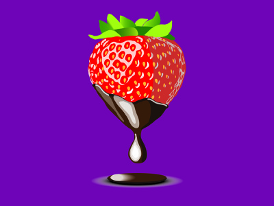 strawberry website app flat social web design icon vector logo illustration