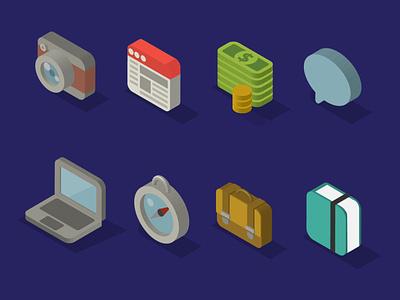 Isometry icons isometric illustration isometric icons isometry icon vector illustration