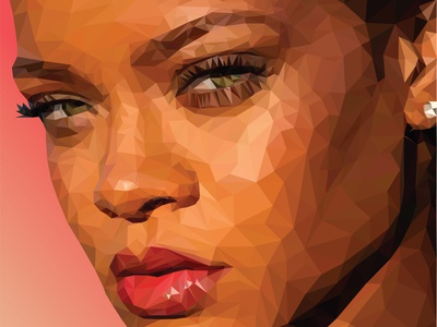 Low-poly rihanna low poly art low-poly lowpoly illustrator vector design illustration