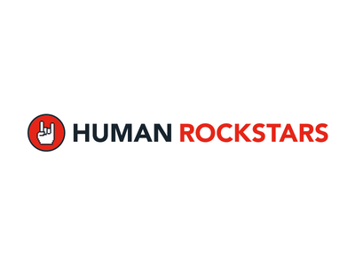 Human Rockstars hand red corporate design rockstar draft branding logodesign logo