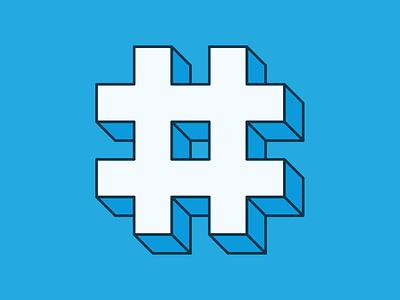 10 Years #Hashtag design socialmedia sign digital hashtag blue logo icon