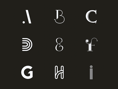 """""""26 letters in 26 days"""" - Challenge handlettering black and white alphabet font type lettering typography"""