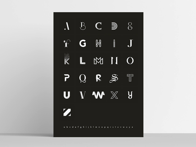 The alphabet abc black and white minimal clean handlettering lettering poster fonts font type typography
