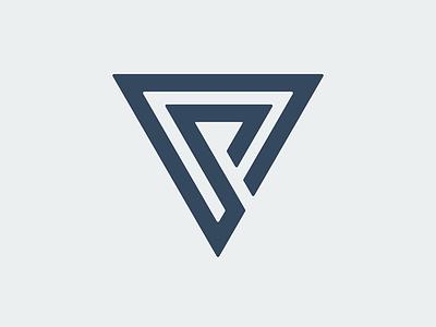 Random forms minimal monogram icon corporate design branding logo