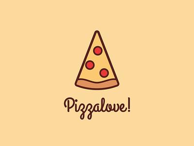 Pizzalove pizza design illustration clean icon logodesign logo