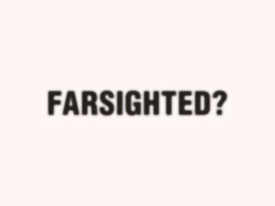 Farsighted? glasses idea typography branding clean design logodesign logo