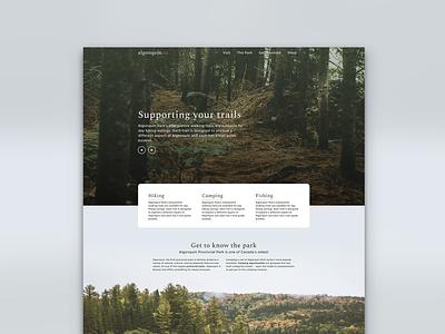 Algonquin UI canada algonquin uidesign nature user interface webdesigner clean minimal website blog ui webdesign