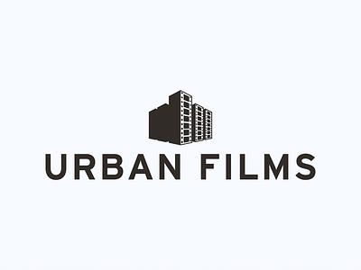Urbanfilm film typography illustration corporate design city minimal icon branding clean logodesign design logo