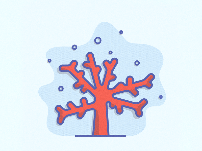 Living Coral 2019 ff6f61 diving cute ocean sea illustration design logodesign clean icon vector color of the year pantone water underwater coral minimal illustration
