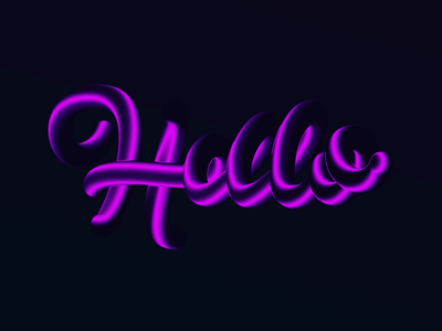 Hello handlettering lettering branding vector 3d art 3d gradient typography design logodesign logo