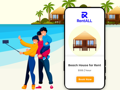 RentALL Mobile App illustration app ui design