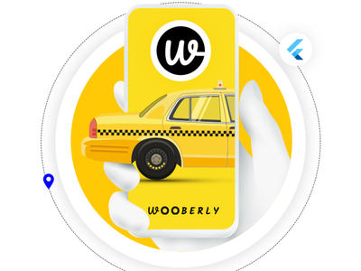 Wooberly - Uber Clone App ui app design