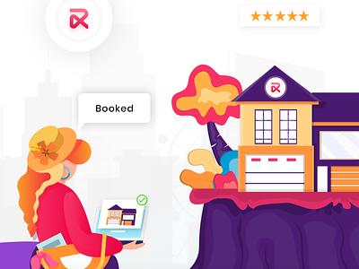 RentALL - Best Airbnb Clone illustration app ui design