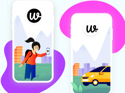 Wooberly vector illustration app ui design
