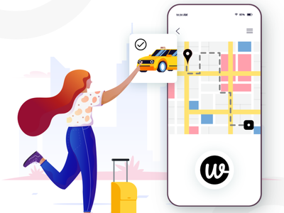 Wooberly vector app illustration ui design