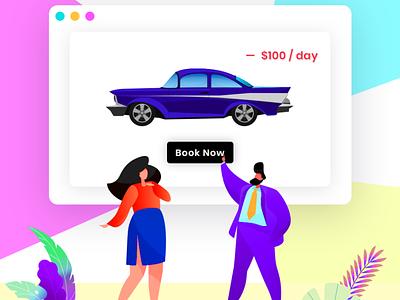 RentALL Cars app ui design