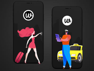 Wooberly - Taxi Booking Solution branding vector ui app design