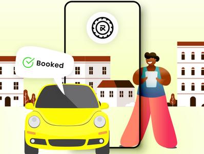 RentALL Cars vector app ui design