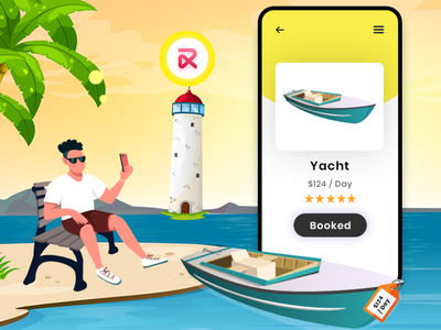 Yacht Booking Script ui app design