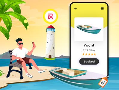 Yacht Booking Script ui app design