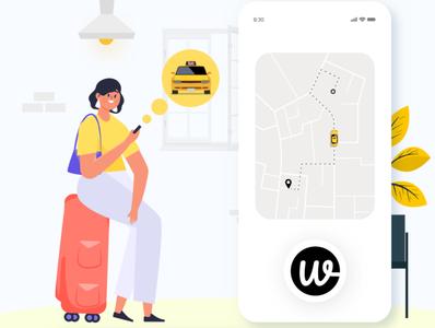 Wooberly vector illustration ui app design