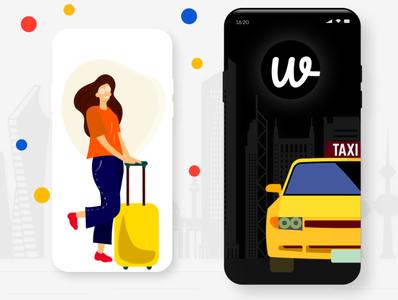Have an idea of upgrading your taxi startup? flutter app design uber like app uber clone app uber clone illustration branding design