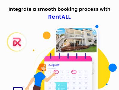 A user-friendly booking interface attracts more customers. flat web ux vacationrentalscript app rentallscript airbnbclone illustration ui design