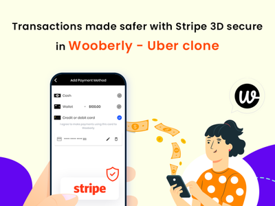 Stripe 3D Secure in Wooberly graphic designs user interface ux branding design