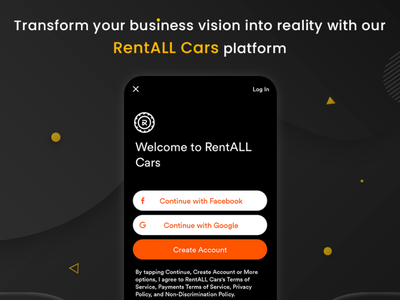 Transform your rental business idea into reality ux web branding carrentalscript vector app ui design