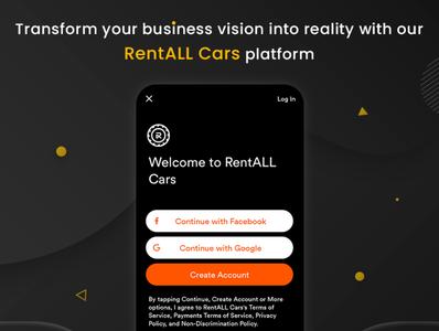 Transform your rental business idea into reality ux web branding carrentalscript vector app ui design