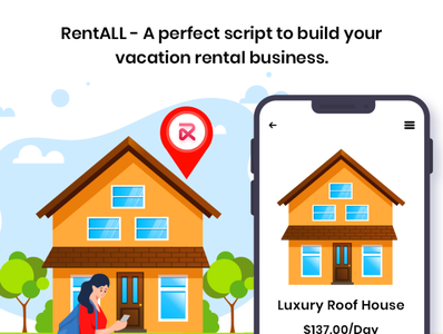 Planning to set up an online rental marketplace platform? icon web ux branding airbnbclone vector illustration app ui design