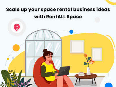 Ready to scale up your space rental business? icon graphic design vector illustration design
