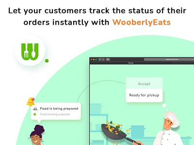 WooberlyEats - Best UberEats Clone App typo color graphic branding vector illustration design