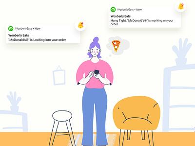 WooberlyEats - UberEats Clone web ux branding vector illustration ui app design