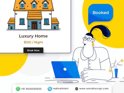 RentALL - Online RentALL Marketplace Platform app branding illustration design