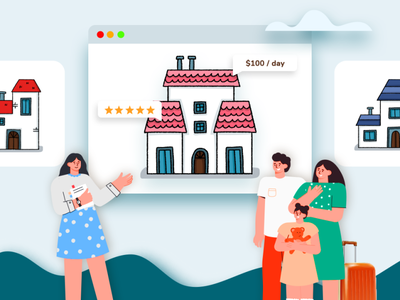 Give a pleasant rental booking experience to your users branding app ui design