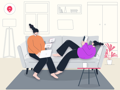 Build an adaptable co-working space rental marketplace ux branding illustration app