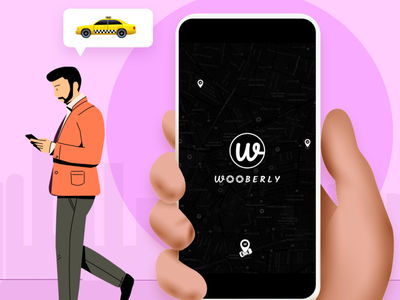Offer an exceptional taxi booking experience to your users branding illustration design app