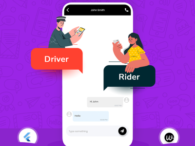 Enhance communication in your on-demand taxi app with Wooberly branding animation