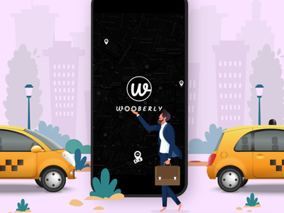 Catch the attention of your taxi app users with Wooberly taxi app taxi app development
